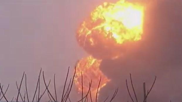 Descarrilamiento causa incendio en Virginia