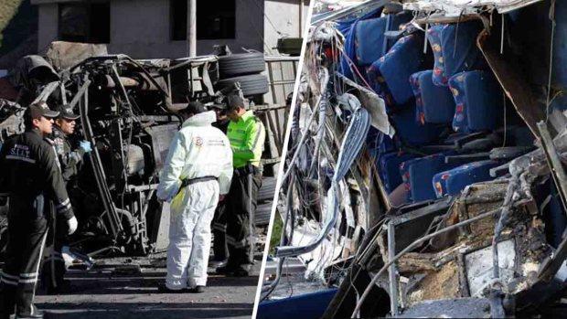 """""""Curva de la muerte"""", bus que provocó accidente fatal llevaba marihuana"""
