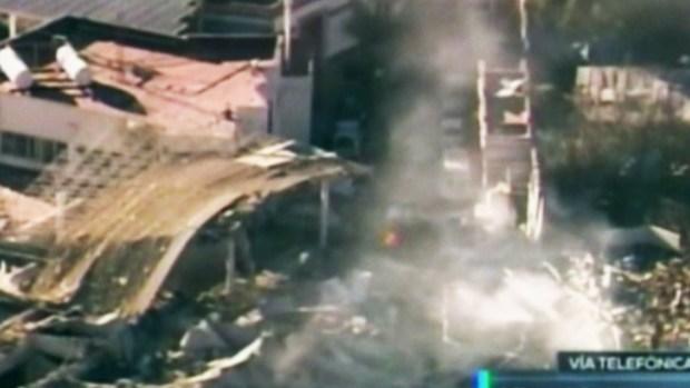Imágenes aéreas de explosión en hospital de México