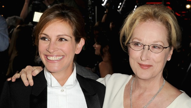 Video: Meryl y Julia brillan en el cine