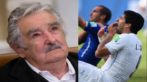 Video: Hasta Mujica recibe a Suárez como héroe