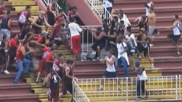 Video: Batalla campal en el futbol brasileño