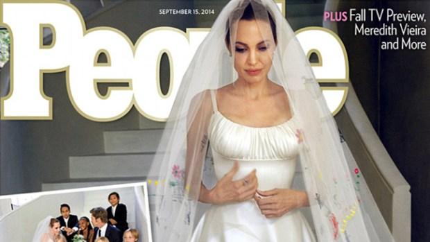 Video: Angelina Jolie, ¡radiante de novia!