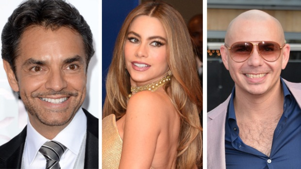 Video: Sofía, Derbez y Pitbull a Hollywood