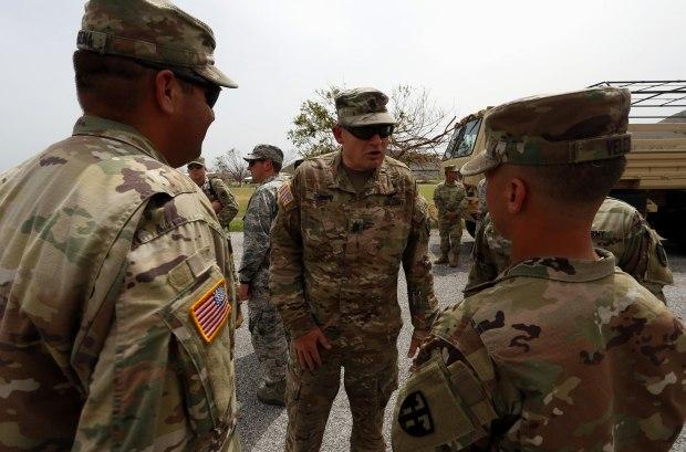 Así se ven los militares en Puerto Rico tras el huracán María