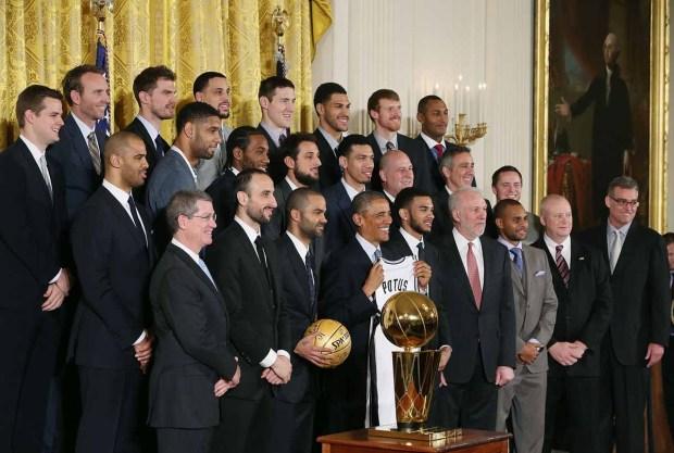 Fotos: Los Spurs visitan a Obama en la Casa Blanca