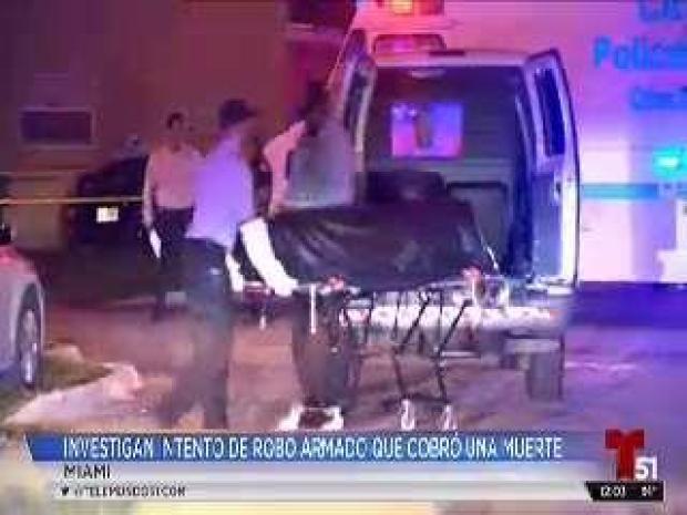 [TLMD - MIA] Investigan intento de robo armado que termina en muerte de una persona