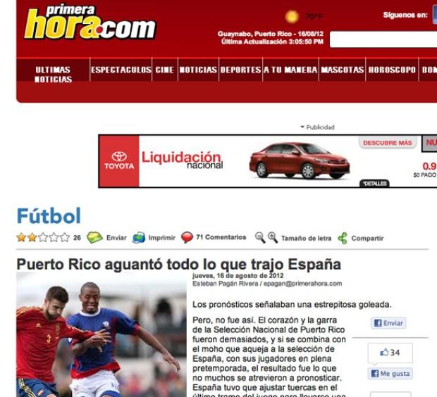 """Galería: """"Burla"""" juego España-Puerto Rico"""