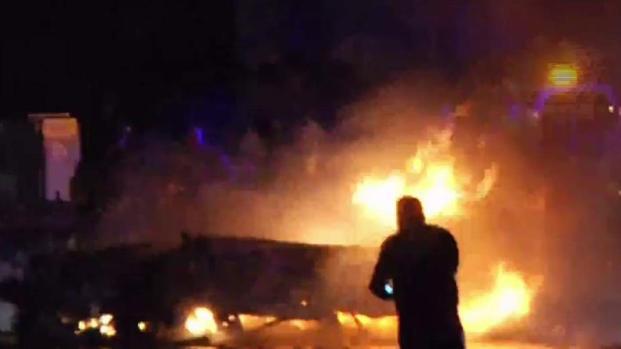 [TLMD - MIA] Dos muertos en fatal accidente de auto que terminó en llamas