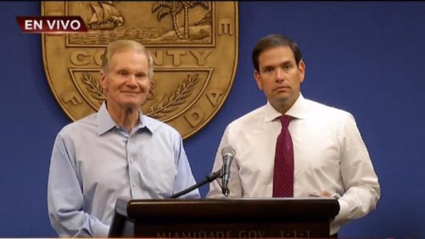 Senador Marco Rubio y Bill Nelson