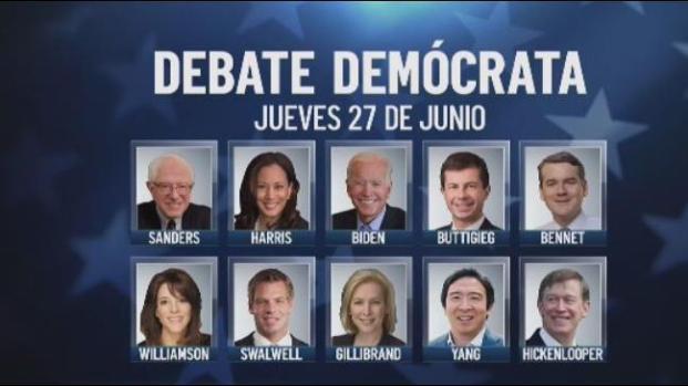 Precandidatos demócratas afilan dientes para el debate