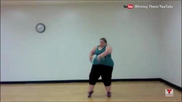 Video: Mujer con 380 libras baila como toda una profesional