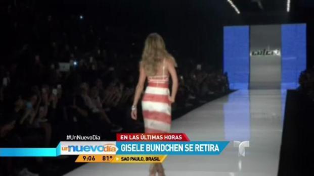 Video: Supermodelo Gisele Bundchen se retira