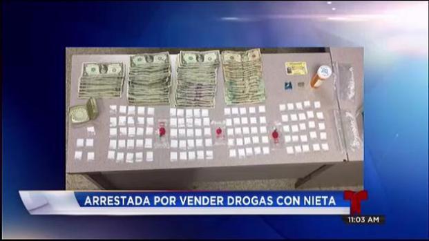 Arrestada por vender drogas junto a su nieta