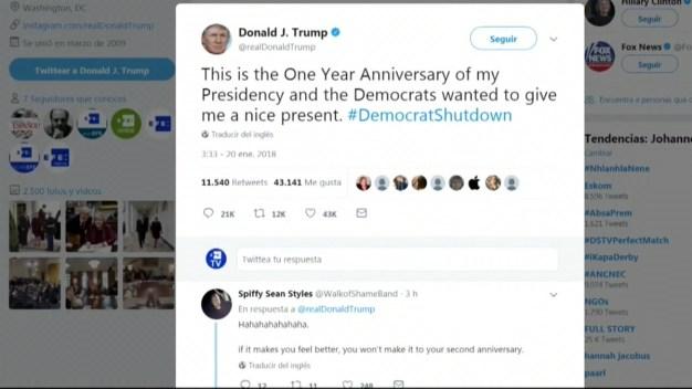 Trump acusa a los demócratas de provocar el cierre parcial del gobierno