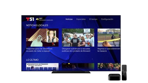 Telemundo 51 ahora disponible en Apple TV