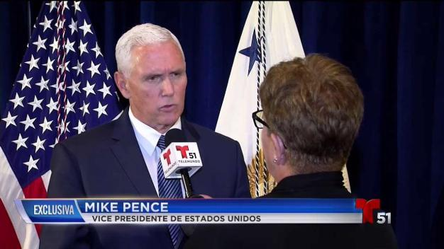 Exclusiva: Mike Pence habla con Telemundo 51}