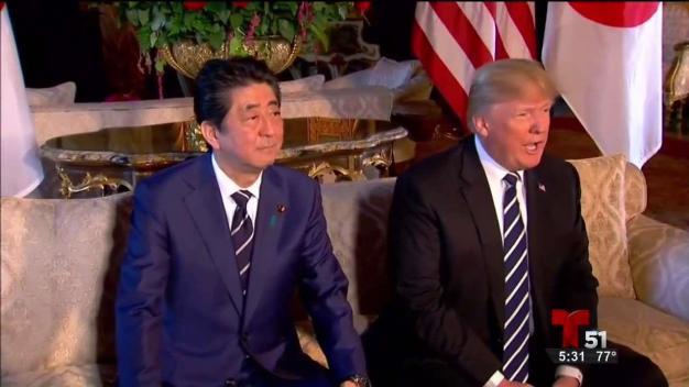 Llega Primer Ministro japonés a Mar-a-Lago