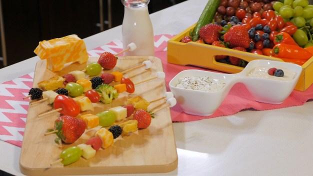 Palitos con queso, vegetales o frutas