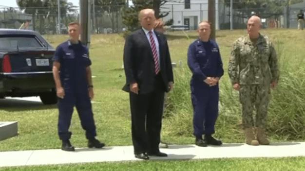 Donald Trump visita los Cayos de Florida