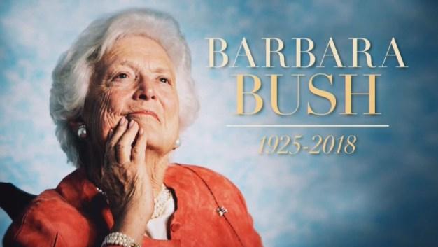 El último adiós a Barbara Bush