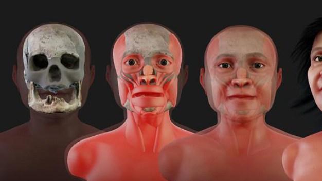 Mujer de 13,600 años recupera su rostro; murió de 20}