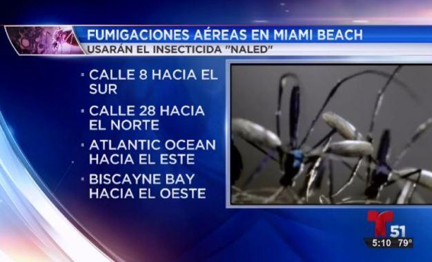 Continúan fumigaciones contra el zika en Miami Beach