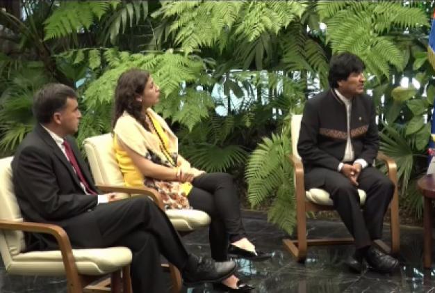 Evo Morales de visita en La Habana