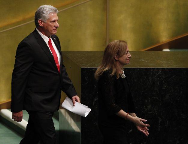 Díaz-Canel da su primer discurso en Naciones Unidas