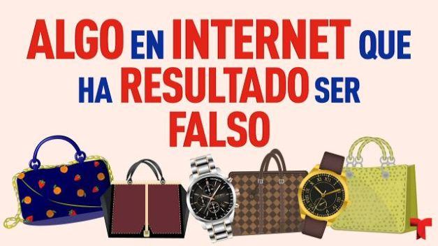 Artículos falsos en internet