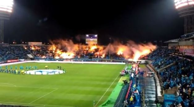 Video: En llamas, estadio de fútbol ruso
