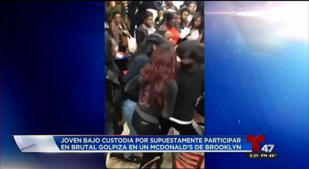Más jóvenes arrestadas por brutal golpiza en McDonald's