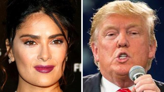 Salma Hayek dice que negó invitación de Trump a una cita