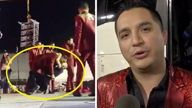 Cantante de La Arrolladora besa a fan gay en concierto