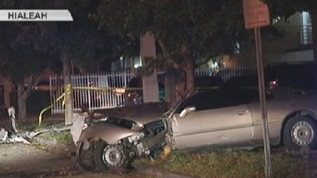 Accidente violento deja un muerto en Hialeah