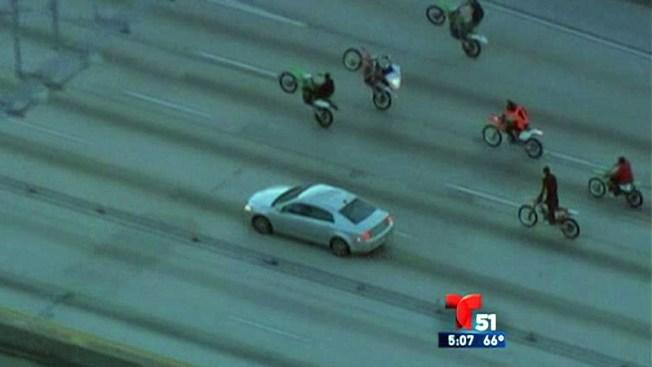 Miami: motociclistas provocan caos en las calles