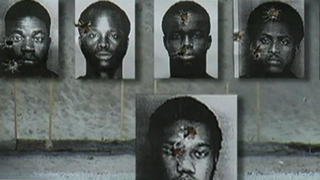 Indignación: fotos policiales usadas como blancos