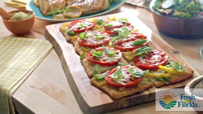 Florida Flatbread con Tomates y Pimientos Dulces