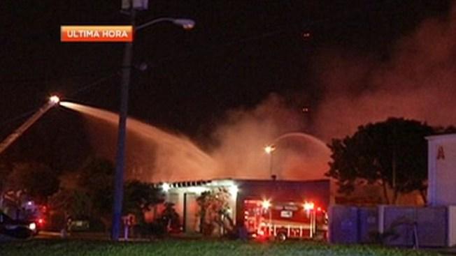 Voraz incendio por explosiones de propano