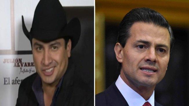 Julión Álvarez feliz de conocer a Peña Nieto
