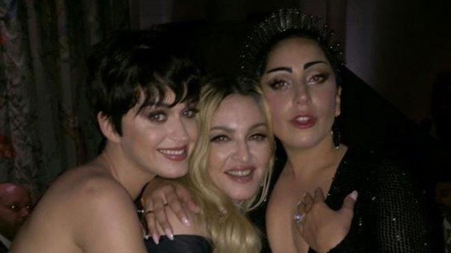 Perry, Madonna y Gaga en inesperado encuentro