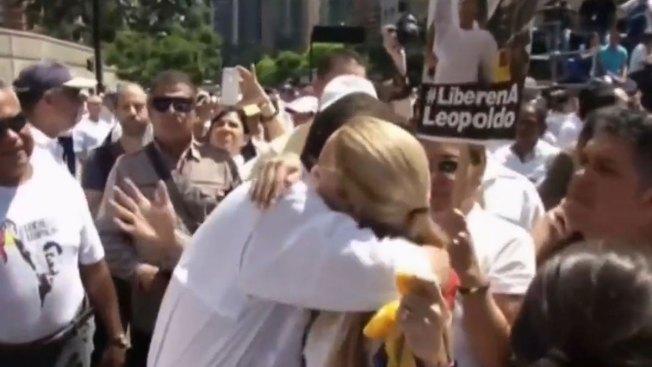 Exigen liberación de líder opositor en Caracas