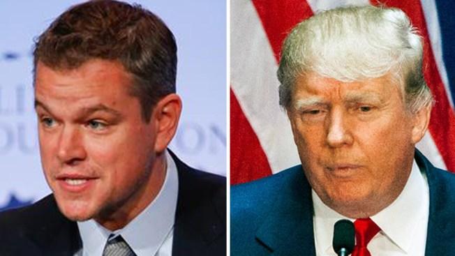 """Matt Damon califica de """"xenófobo"""" a Trump"""