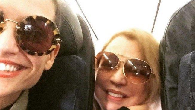 ¡Natalia y Ednita Nazario coinciden en avión!