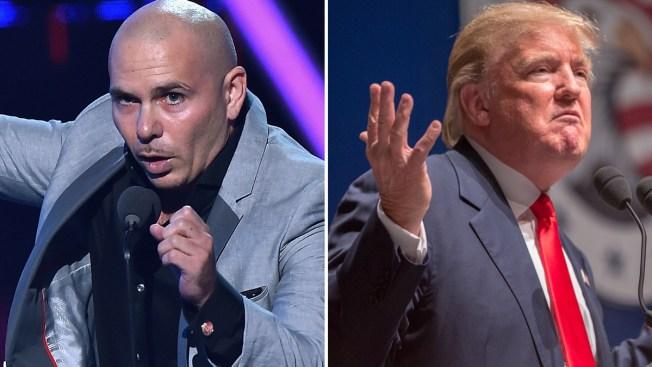 """Pitbull a Trump: """"¡Ten cuida'o con 'El Chapo'!"""""""