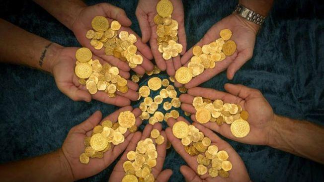 Hallan tesoro: $4,5 millones en monedas de oro