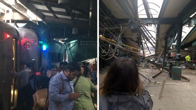 Tren choca en estación y deja múltiples heridos — Nueva Jersey