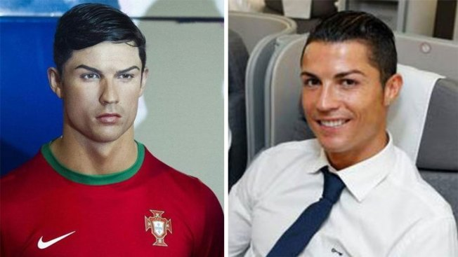 Ronaldo envía a peluquero a peinar figura de cera