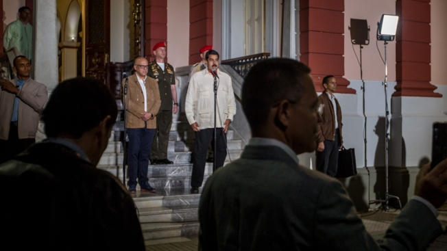 Maduro se reunió con Shannon y Zapatero