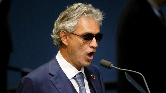 Hospitalizan en Italia al tenor Andrea Bocelli